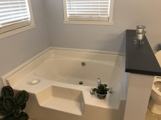 Master bath garden tub